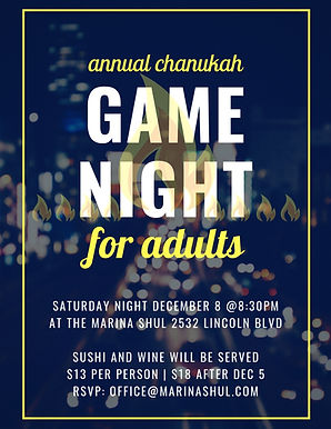Chanukah Adult Game Night