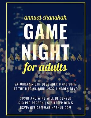 Chanukah Adult Game Night