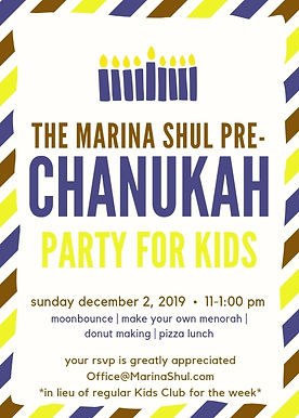 Pre-Chanukah Party for Kids