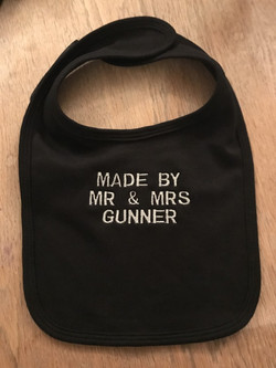 Unique personalised bibs for babies and