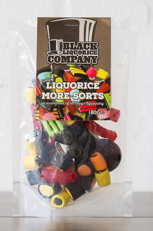 Black Liquorice Company Moresorts red only  180g Pre-Pack