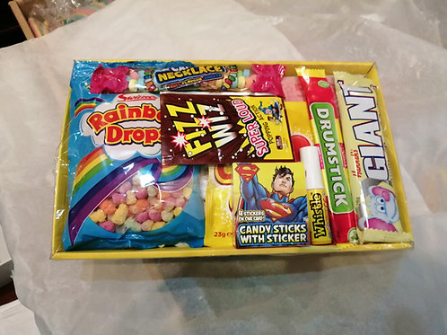 Retro kids sweet hamper