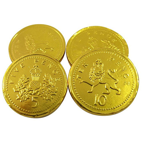 100g Chocolate Gold Coins