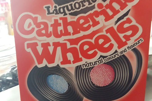 Barratt Liquorice Catherine Wheels (Full box of 75)