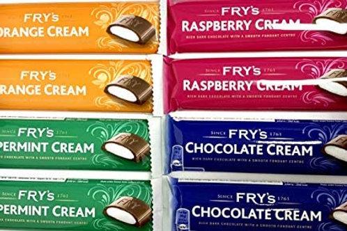 Frys chocolate cream bars x 2 various