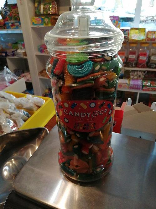Carnival fruity liquorice gift jar 1.6kg