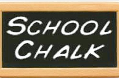 Dutch Black School Chalk 200g