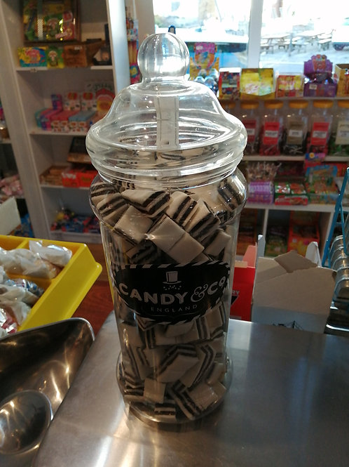 Black and white mints gift jar 1.6kg
