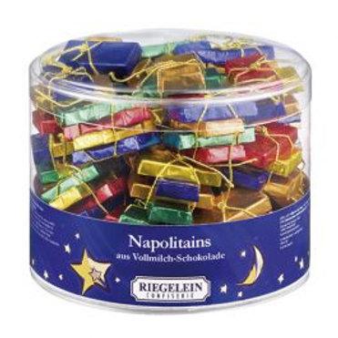 Neopolitan chocolate tree decorations x 5