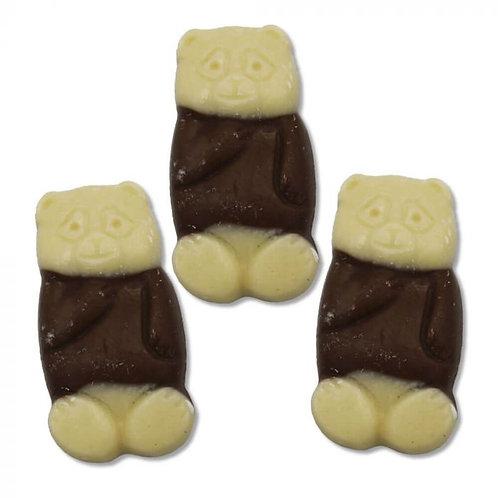 Milk and white chocolate bears