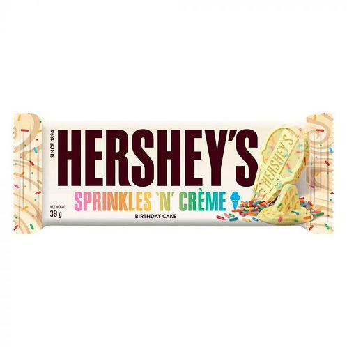 Hersheys sprinkles and Cream birthday cake bar 39g