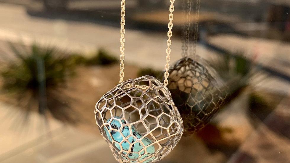 Geometric Cubic Necklace