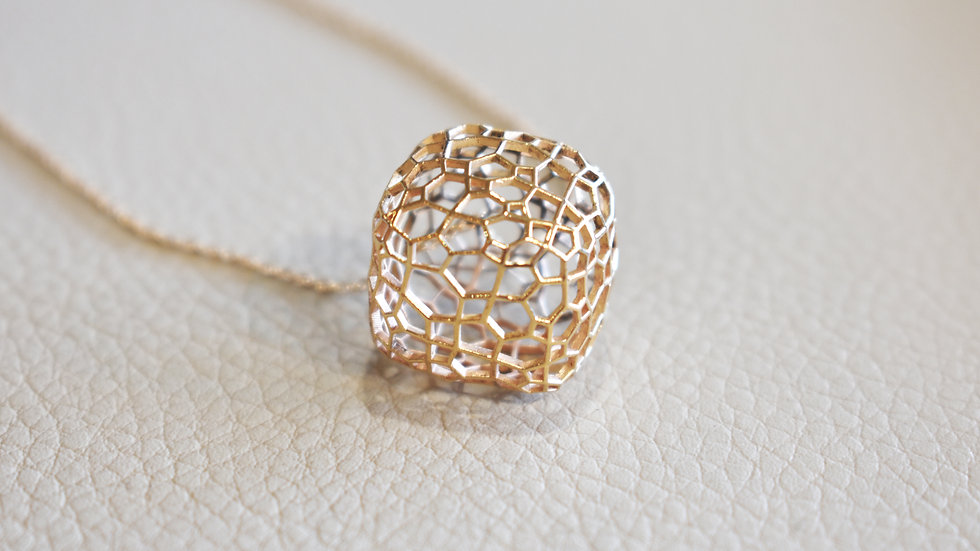 Geometry Cubic Necklace