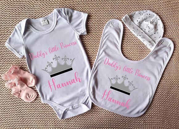 Personalised Bodysuit & Bib Set - Little Princess - Onesie - Baby Grow