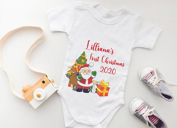 Personalised First Christmas Baby Grow - Bodysuit Onesie