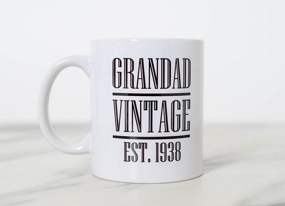 Vintage Personalised Mug