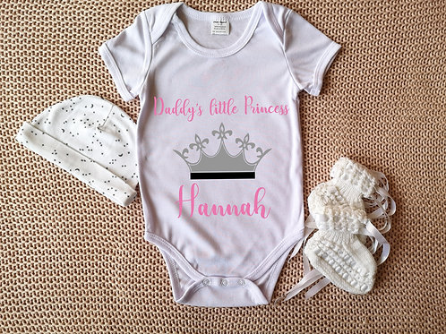 Personalised Baby Grow - Little Princess - Bodysuit Onesie
