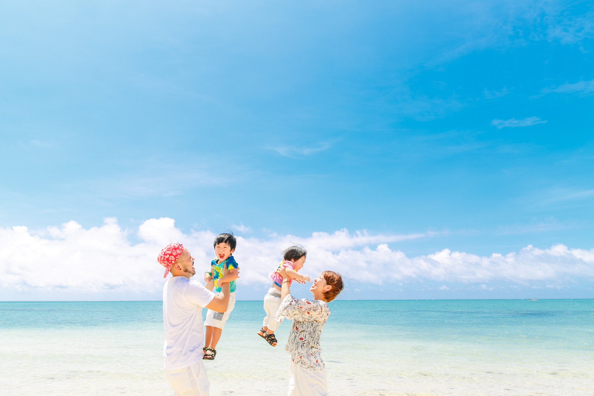 Family photo in okinawa