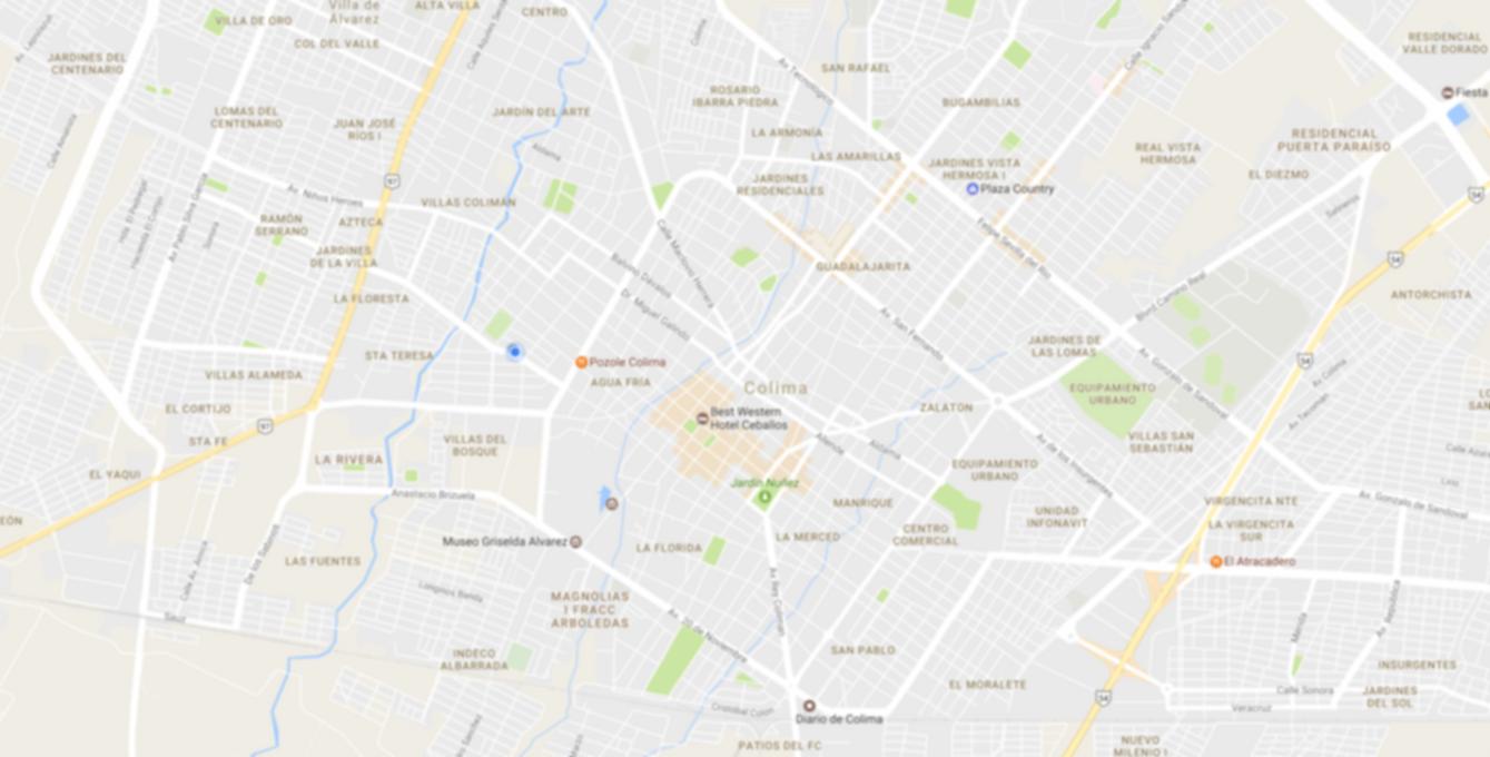 Chofer PRO mapa Colima