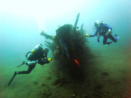 Japanese wreck at Gili Trawangan Indonesia