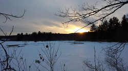 Sunset at Abol Stream