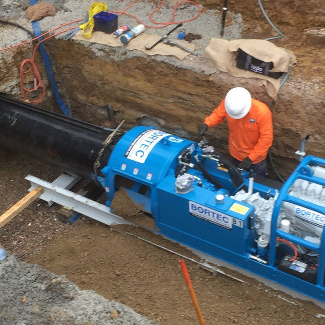 Boring Machine with 600mm Augers and Sle