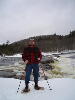 Maine snowshoeing