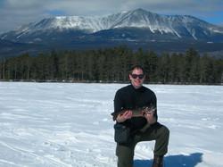 Maine ice fishing