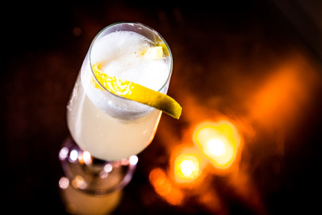 Frozen Champagne Cocktail