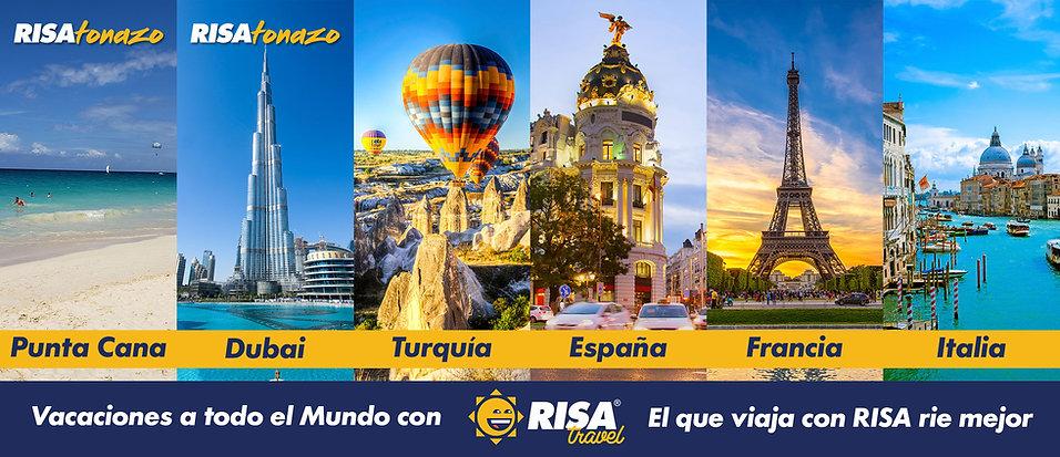 El que viaja con RISA rie mejor. Vacaciones a todo el mundo con RISA Travel: Punta Cana, Dubai, Turquia, España, Francia, Italia