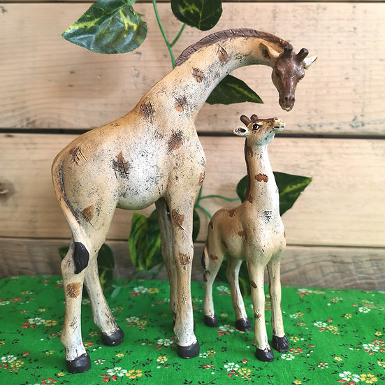 Cute Mother & Child Giraffe Ornament - 2 piece