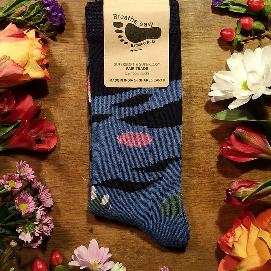 Lilly Pad Pond Bamboo Socks (Size M Available)