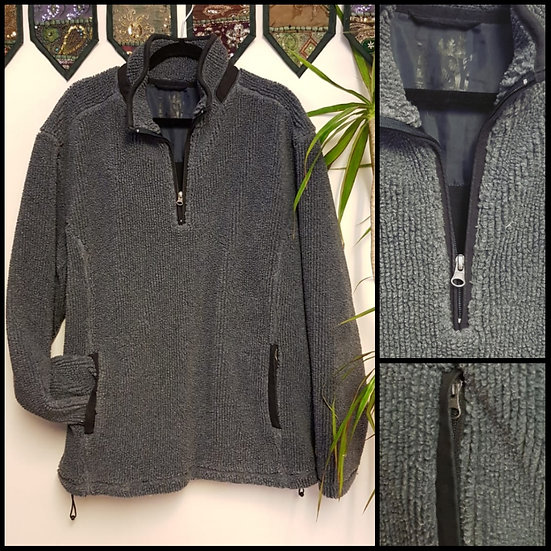 Vintage 90's Easy Slate Grey Pull-Over Fleece Size L/XL