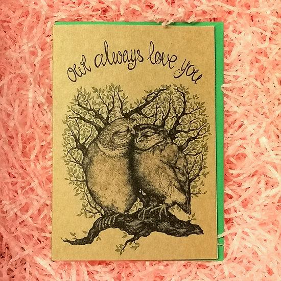 'Owl Always Love You' Cute Valentine's Card A6