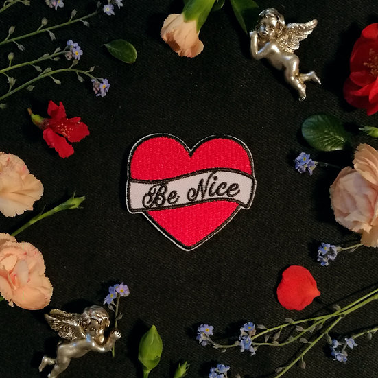 Be Nice Iron-On Patch