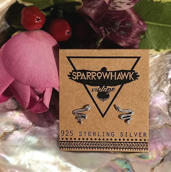 Sterling Silver Snake Ear Studs