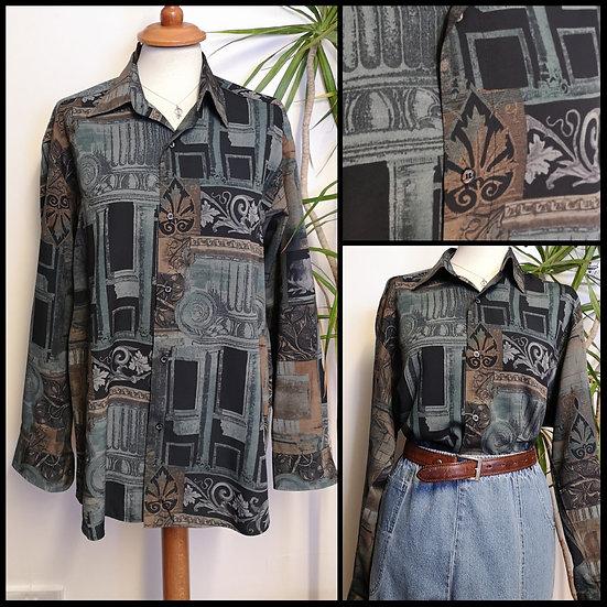Vintage 90's Burtons ArchitecturalShirt UNISEX Size M