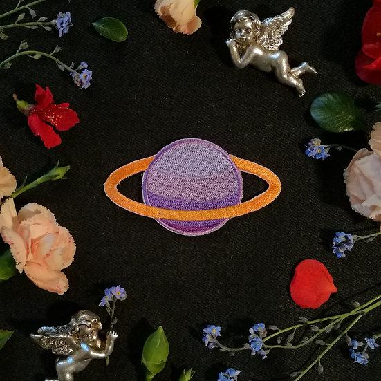 Saturn Iron-On Patch