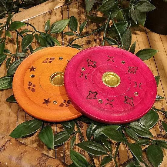 Fairtrade Handmade Insence Ash Catcher Cone Burner Disc (Choose Colour)