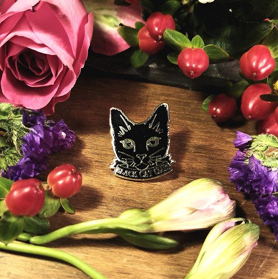 Black Cat Club Pin Badge