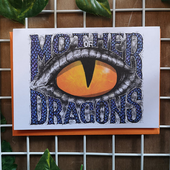 GOT 'Mother of Dragons' Mother's Day Greetings Card A6