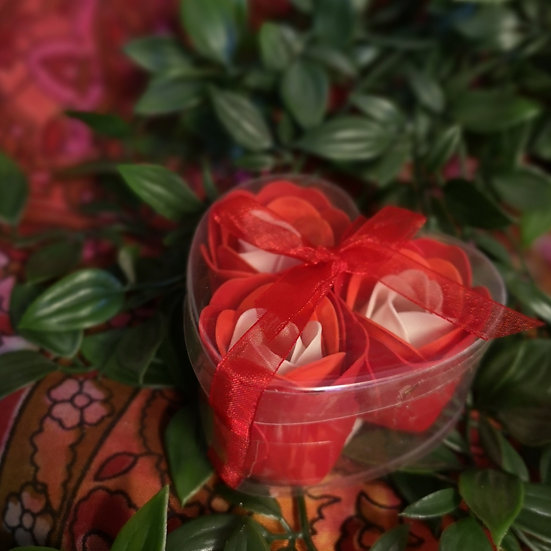 Heart Shaped Box of Soap Roses - Natural Fragrance