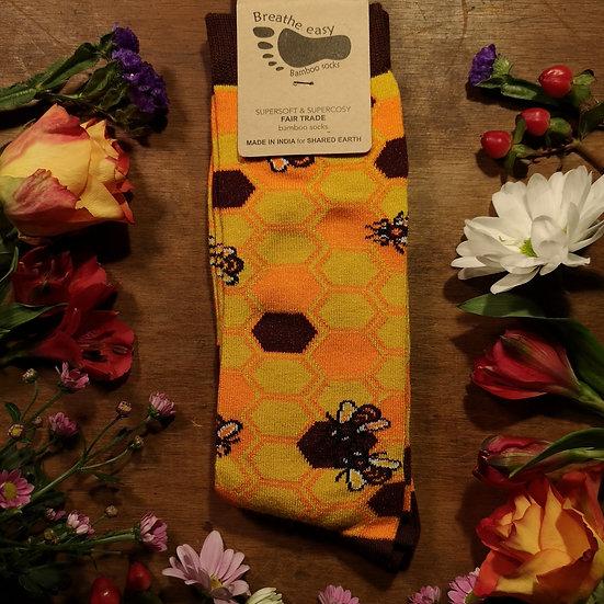 Bee & Honey Bamboo Socks (2 Sizes Available)