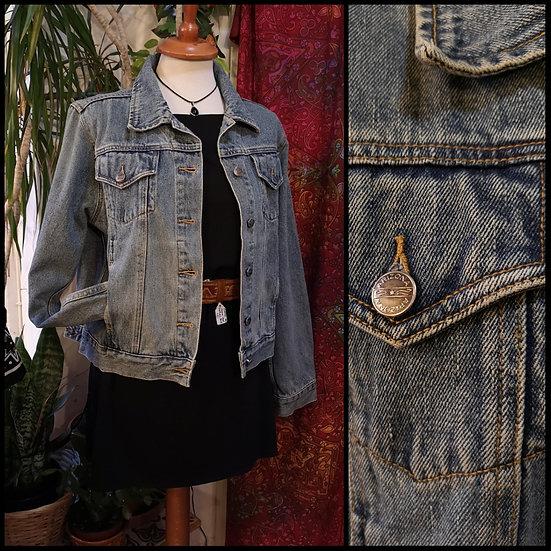 Vintage 90's Denim Jacket Cropped Size S/M US Import