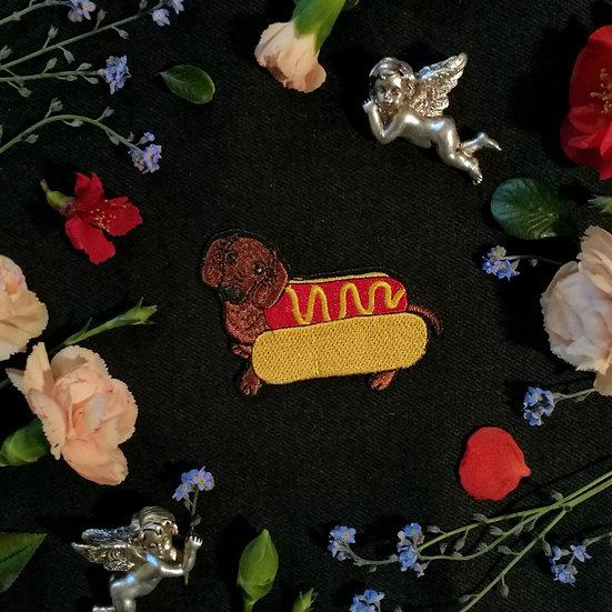 Hot Dog Iron-On Patch