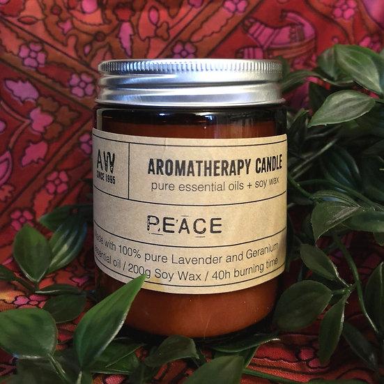 Peace Aromatherapy Candle - Lavender & Geranium