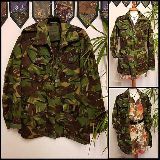 Vintage Retro Military Cargo Coat Jacket Size S/M