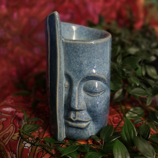 Ceramic Abstract Face Wrap Oil/Wax Burner