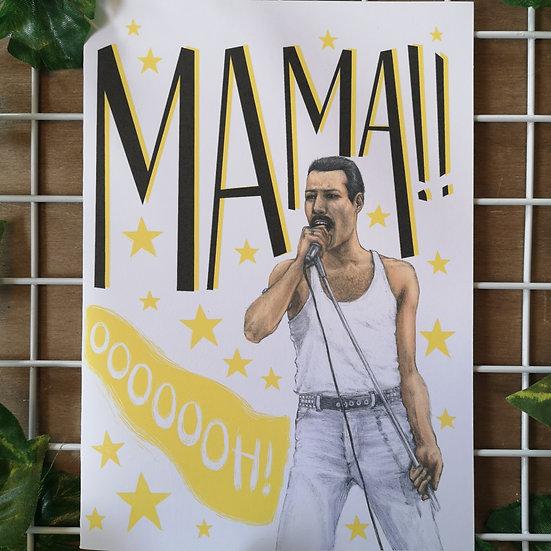 'Mamaaa ooooooh!' Freddie Queen Mother's Day Card A6