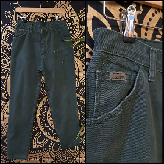 Vintage 90's Wrangler Green High-Waist Jeans Size S